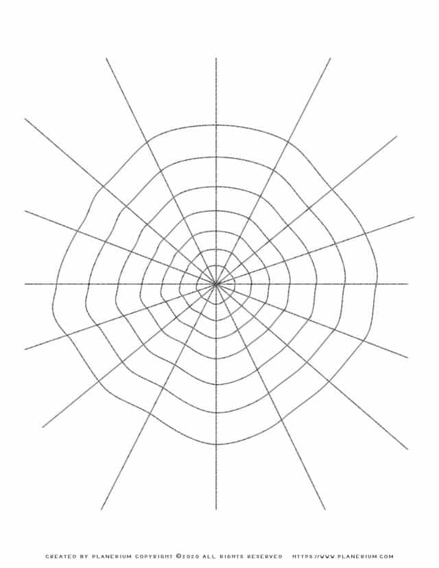 Halloween Coloring Pages - Spider Web outline | Planerium
