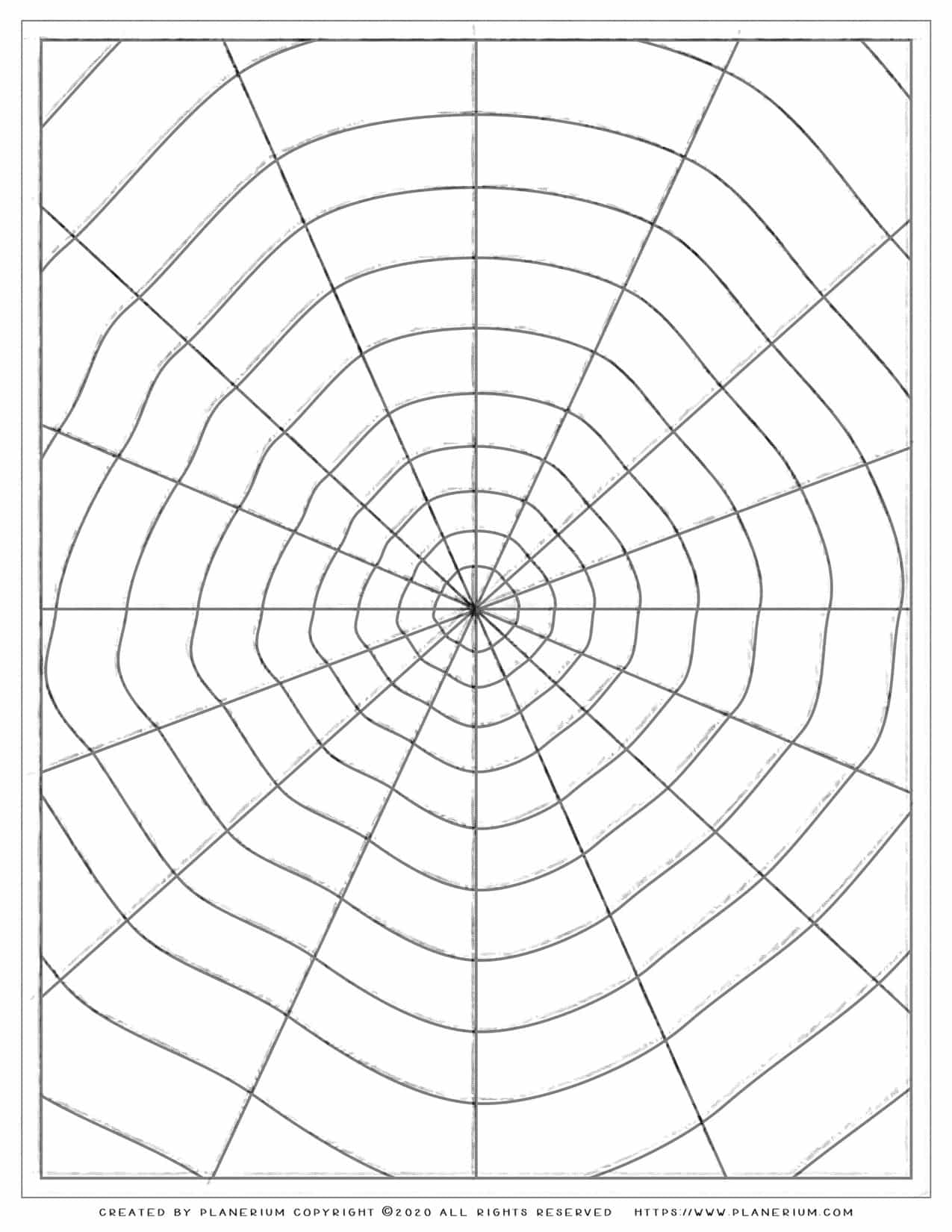 Halloween Coloring Pages - Spider Web | Planerium