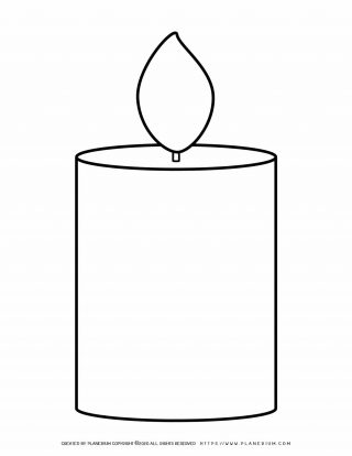 Large Candles Template | Planerium