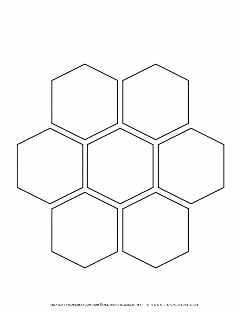 Mind Map Template - Alternatives - Hexagons | Planerium