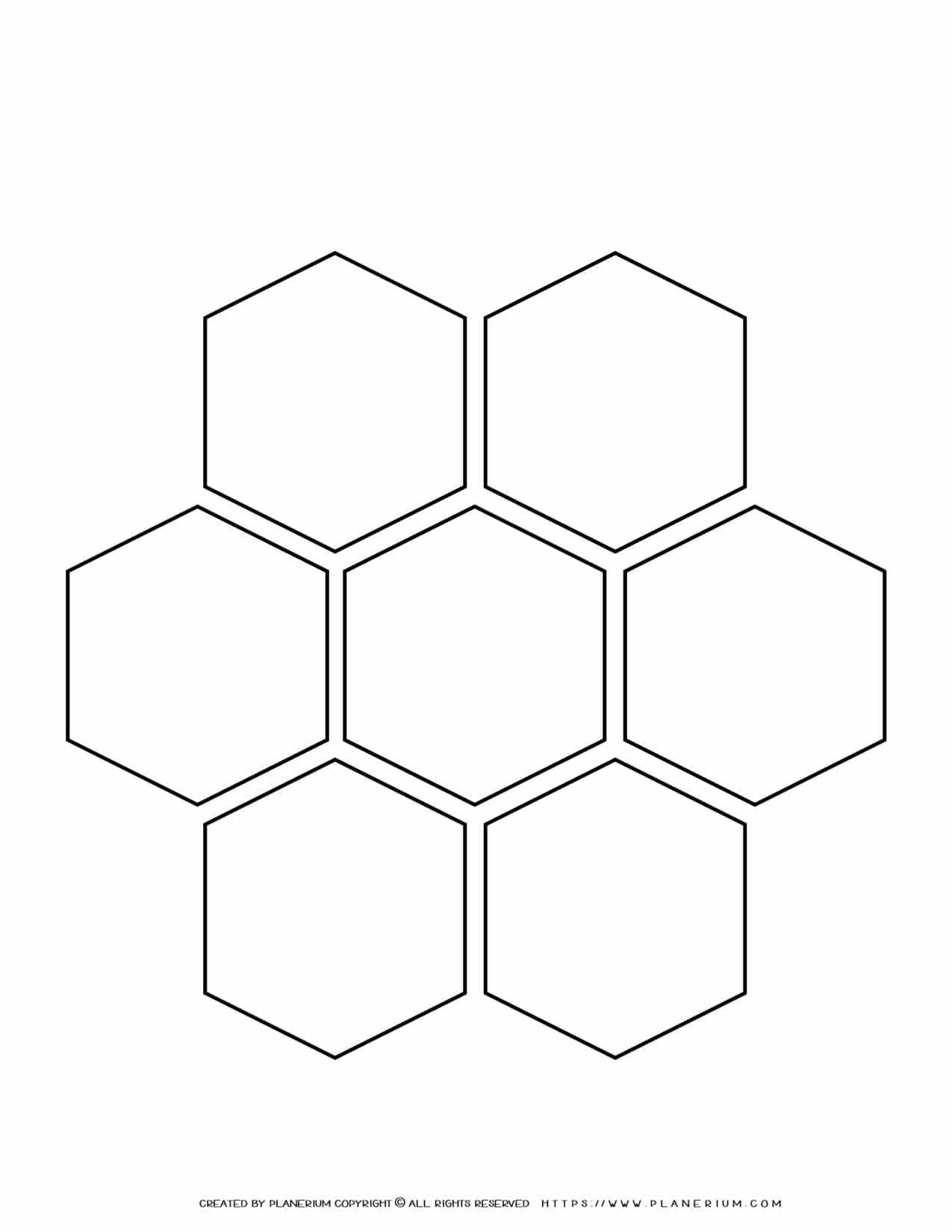 Mind Map Template - Alternatives - Hexagons   Planerium