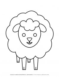 Sheep Coloring Page | Planerium