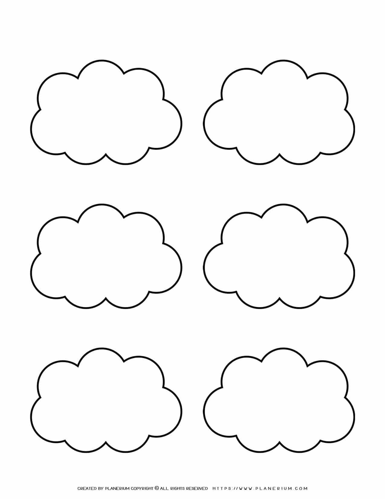Templates - Six Clouds Outline | Planerium