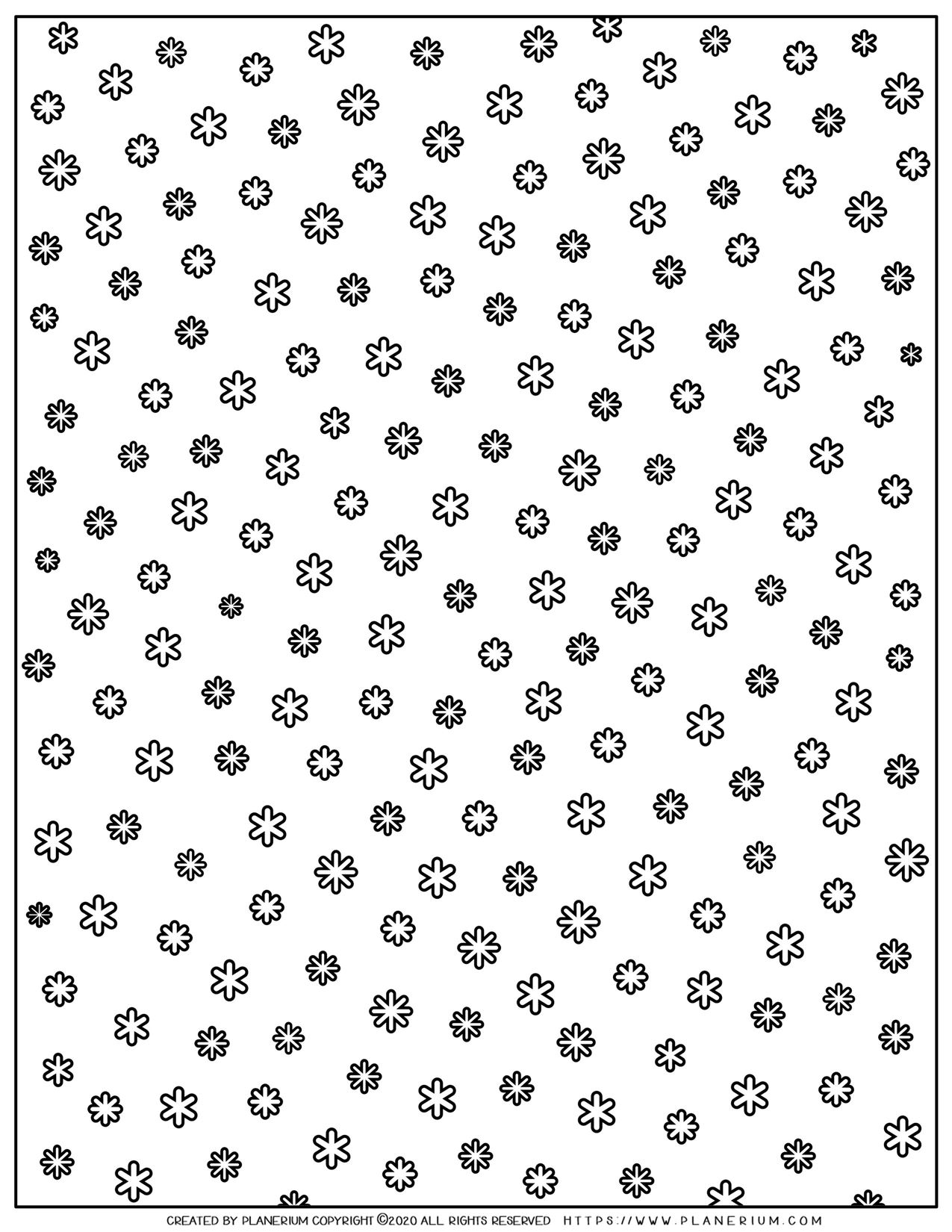 Snowflake Black and White Background | Planerium