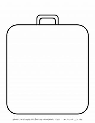 Templates - Big Suitcases outline | Planerium