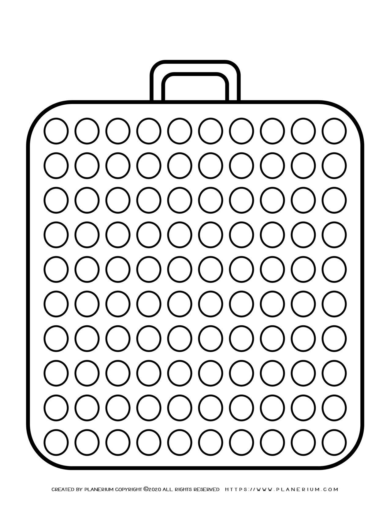 Templates - Big Suitcase With a Hundred Circles | Planerium