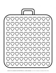 Templates - Big Suitcase With a Hundred Hearts | Planerium