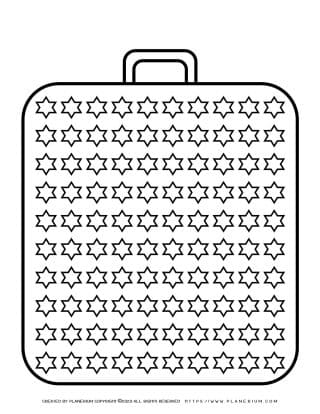 Templates - Big Suitcase With a Hundred Stars | Planerium