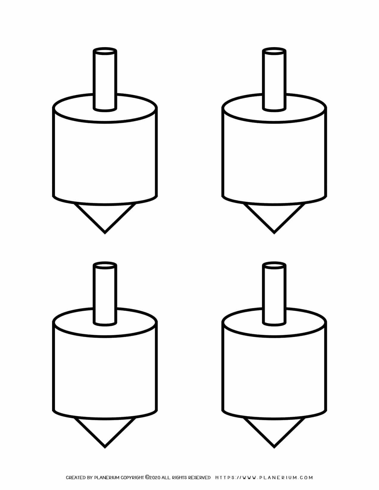 Templates - Four Dreidels | Planerium