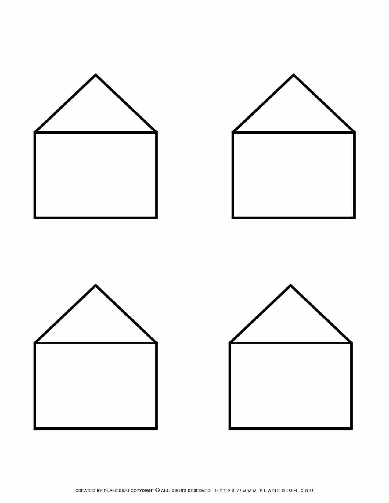 Templates - Four Houses Outline | Planerium