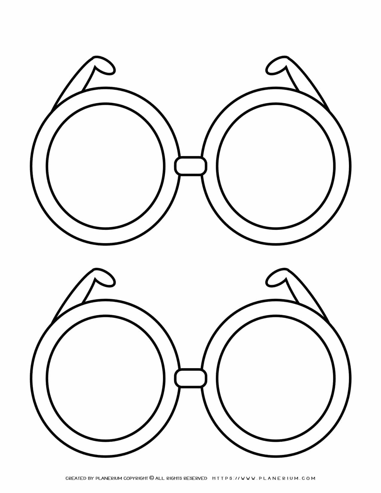 Two Glasses Outline | Planerium