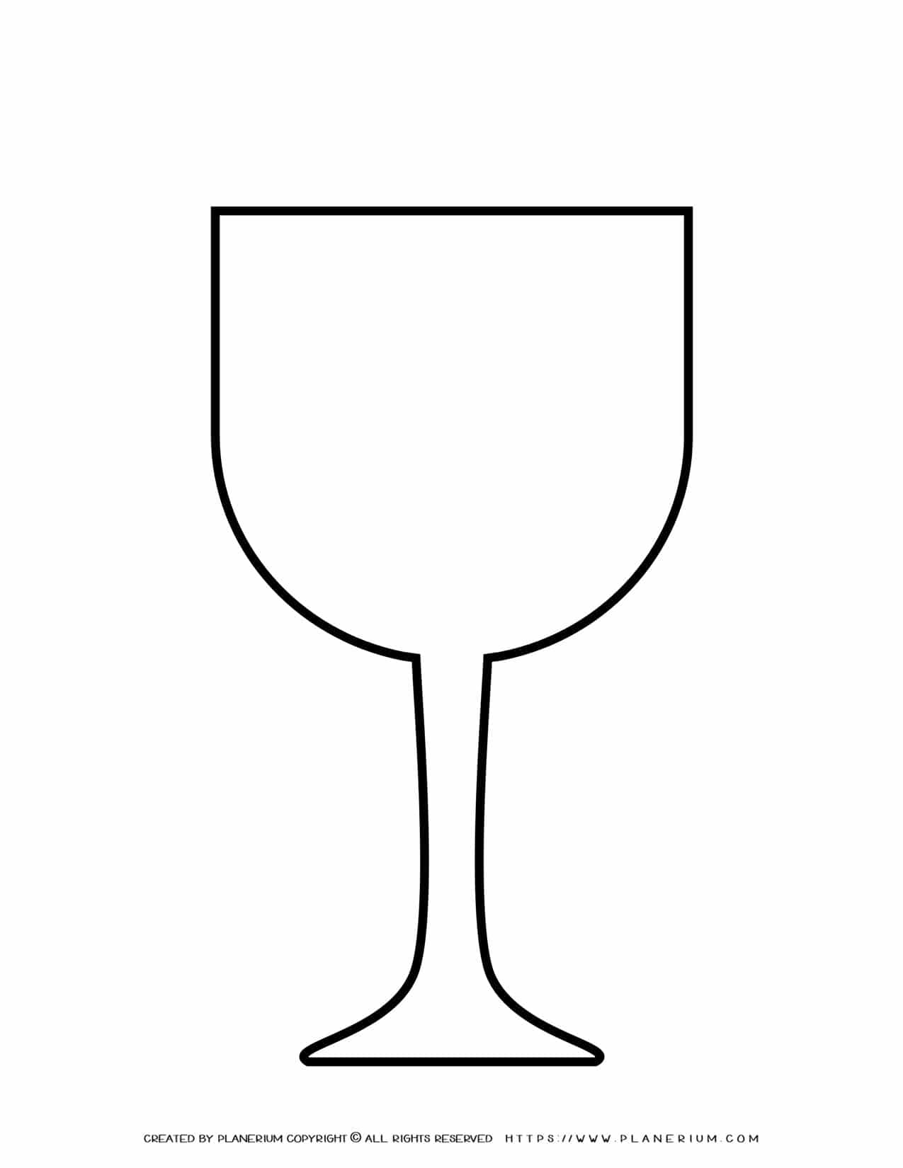 Wine Glass Template | Planerium