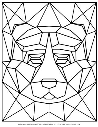 Animal Coloring Pages - Geometric Bear | Planerium