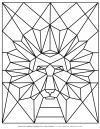 Animal Coloring Pages - Geometric Lion | Planerium