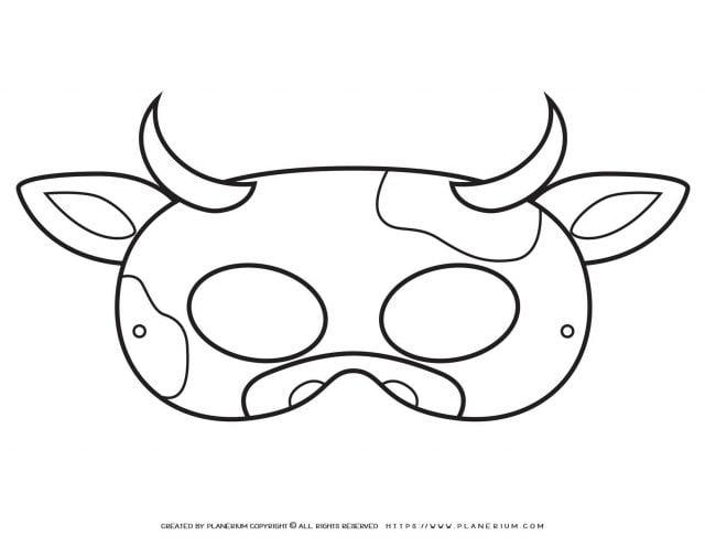 Animal Masks - Cow Eye Mask | Planerium