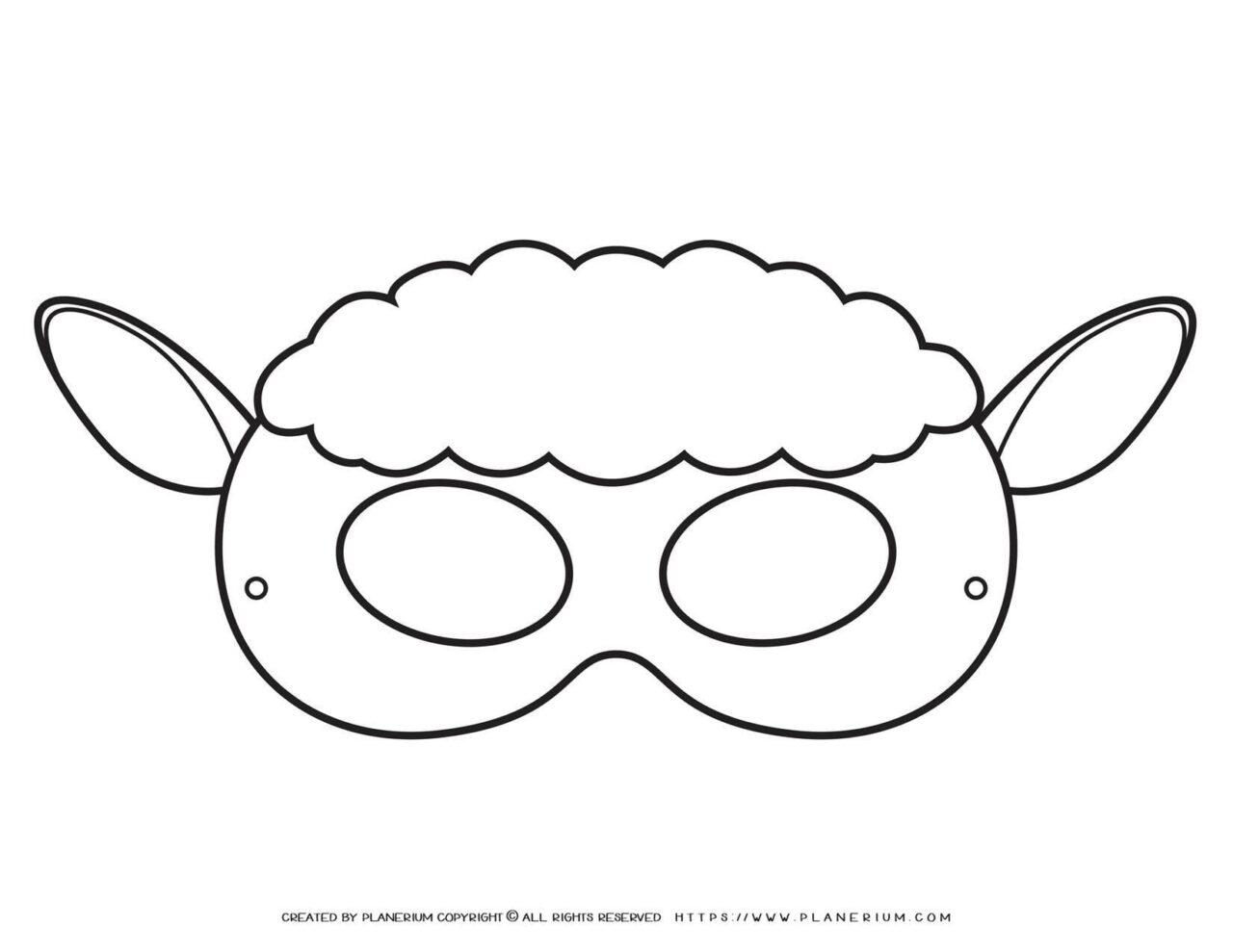 Animal Masks - Sheep Eye Mask   Planerium