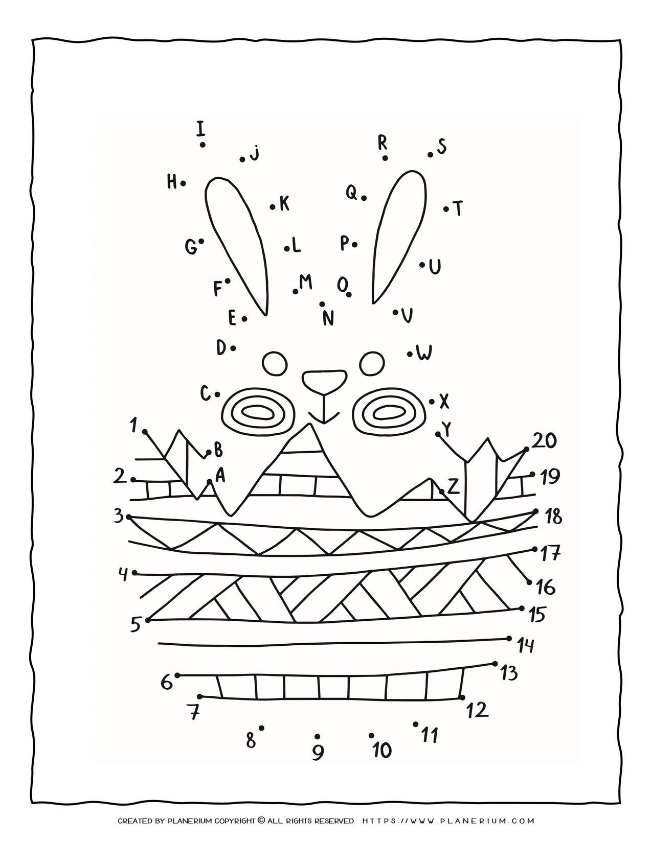Connect The Dots - Easter Bunny | Planerium