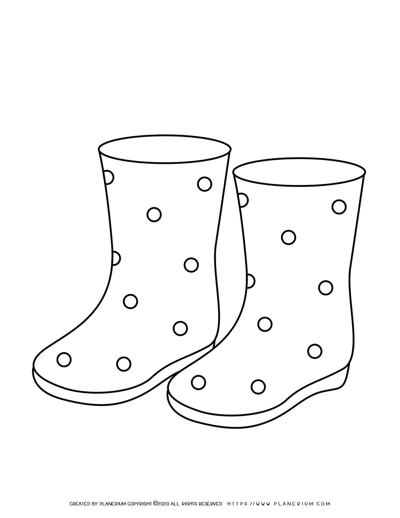 Dotted Boots Outline | Planerium