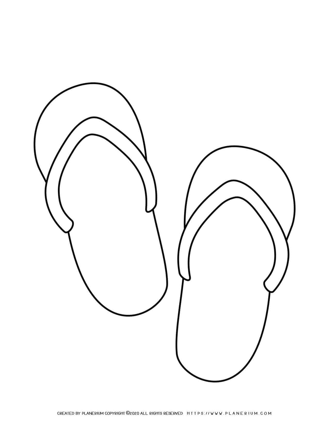 Flip Flops Outline | Planerium