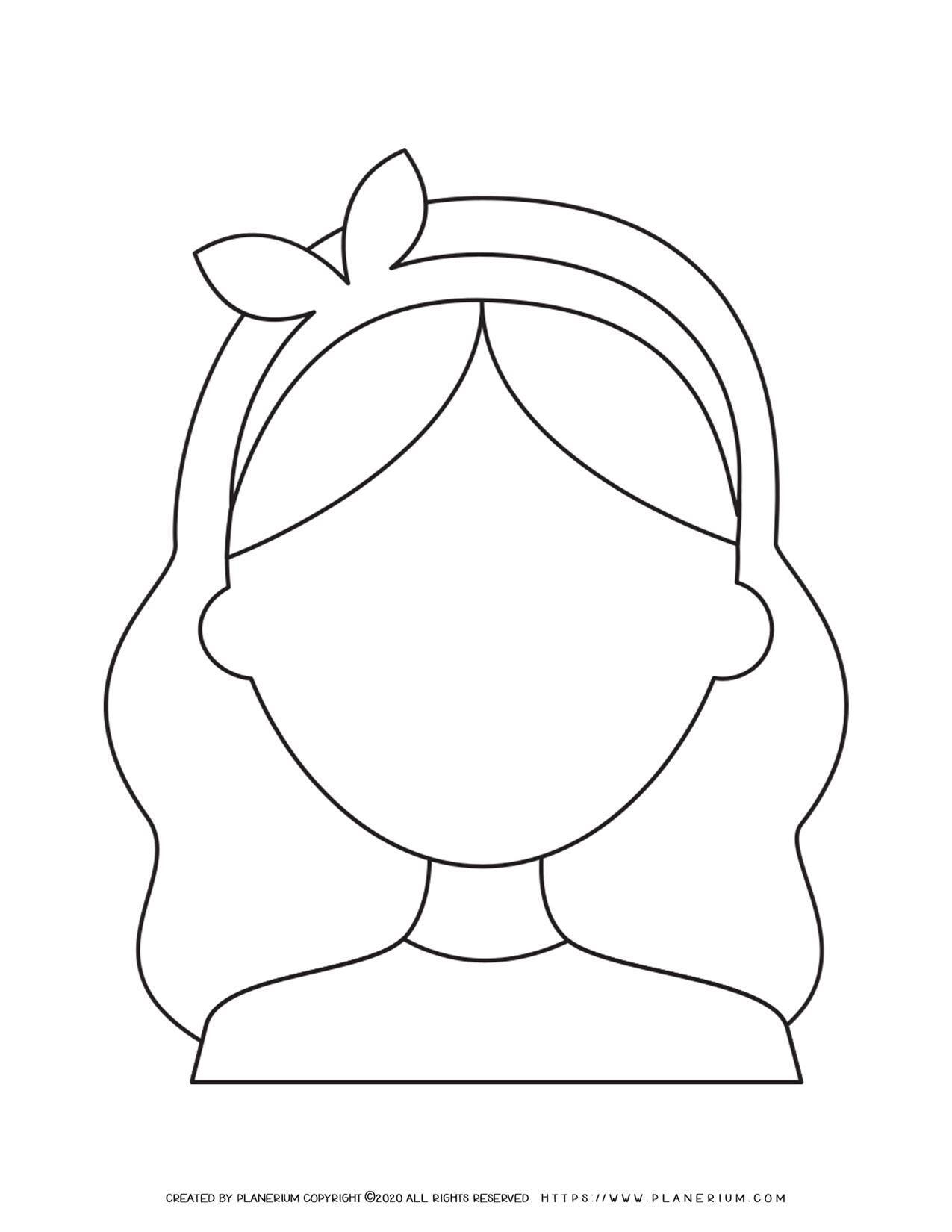 Girl Face Outline   Planerium