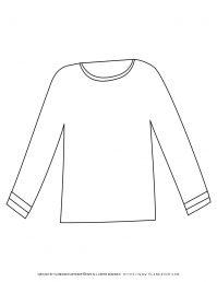 Long Sleeve Shirt Outline | Planerium
