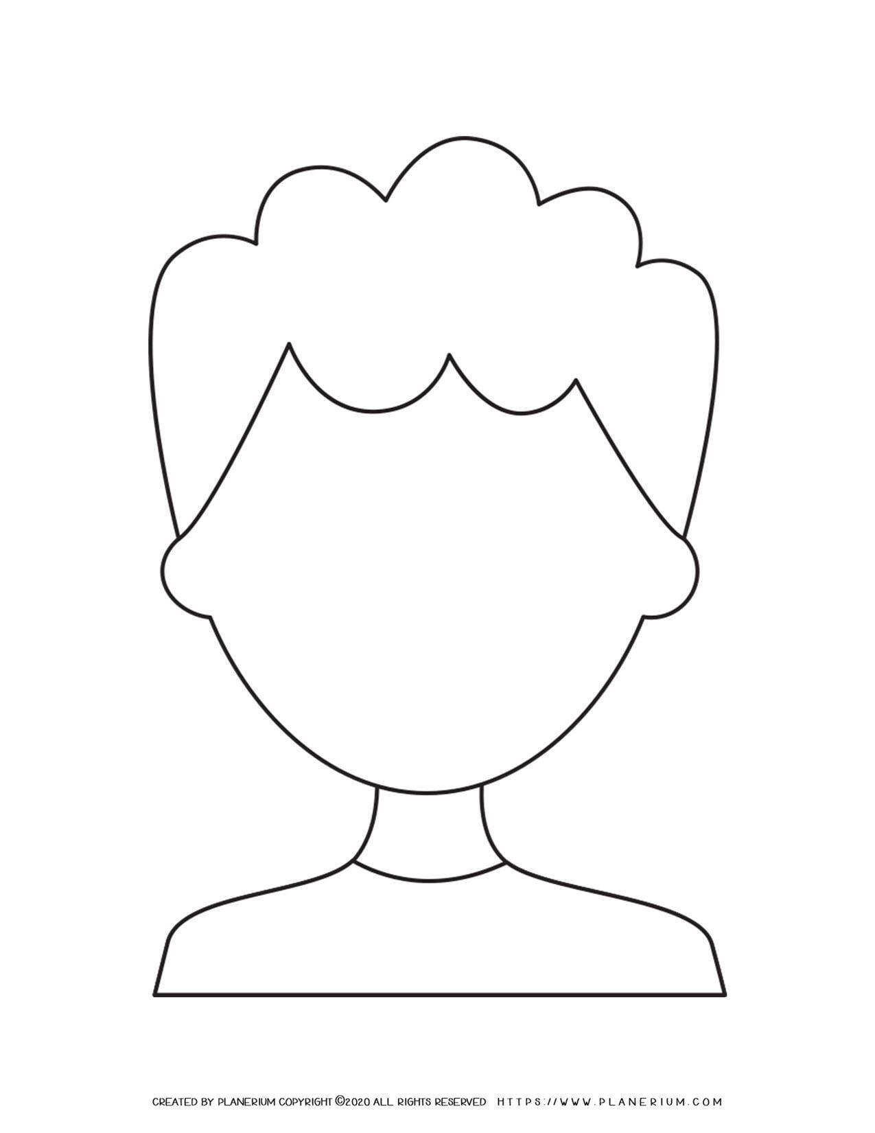 Man Face Outline | Planerium