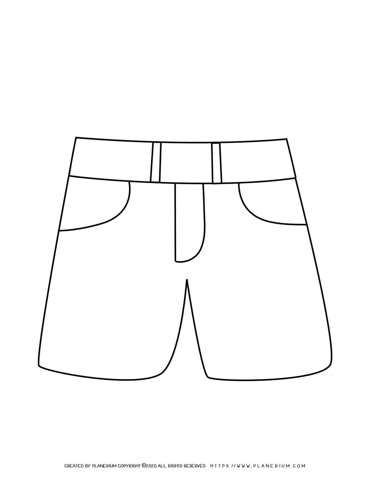 Short Pants Outline | Planerium