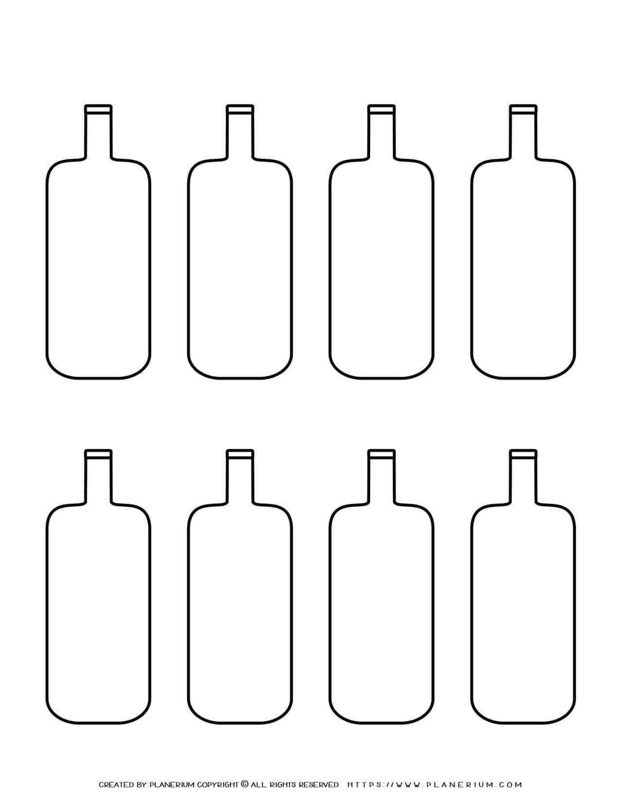 Templates - Eight Wine Bottles | Planerium
