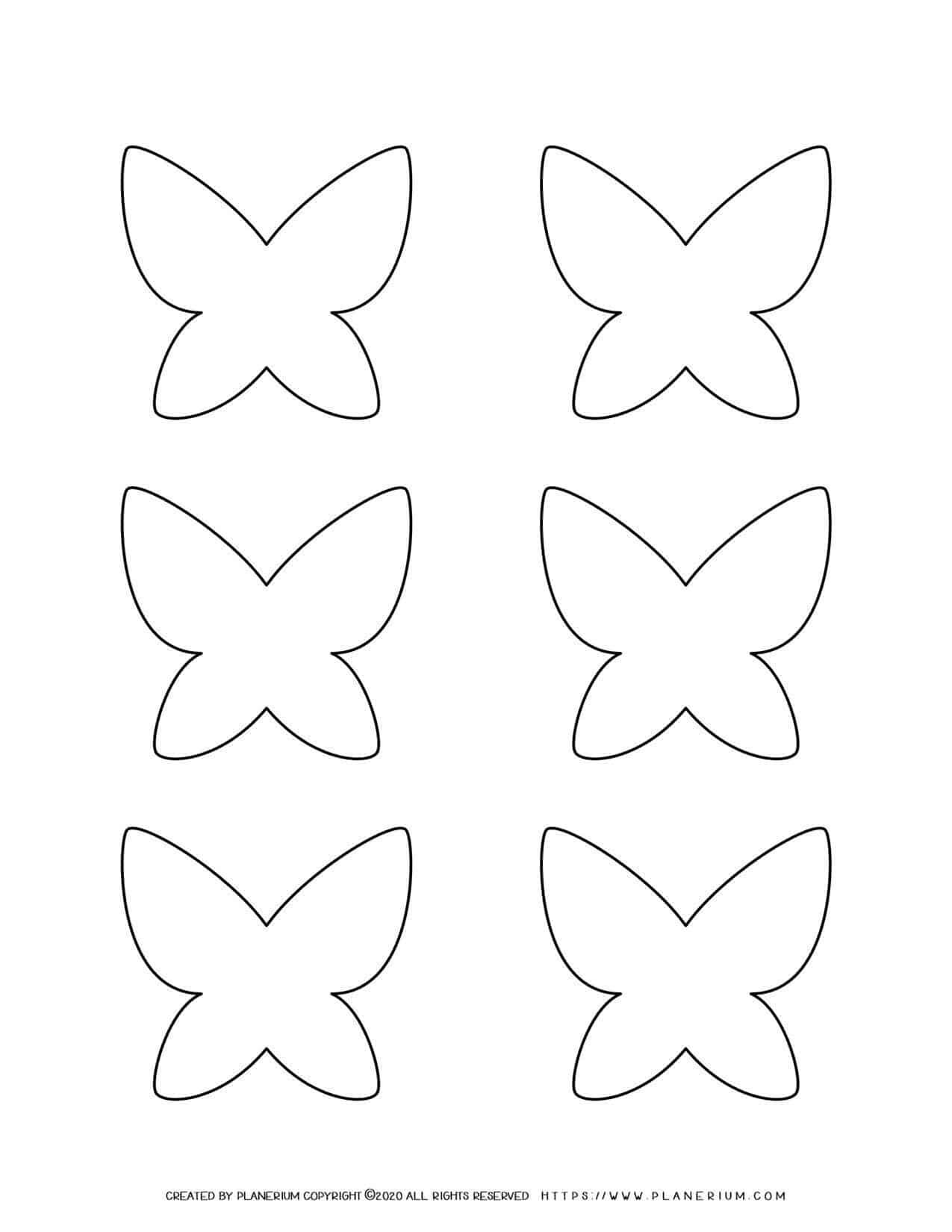 Templates - Six Butterflies   Planerium