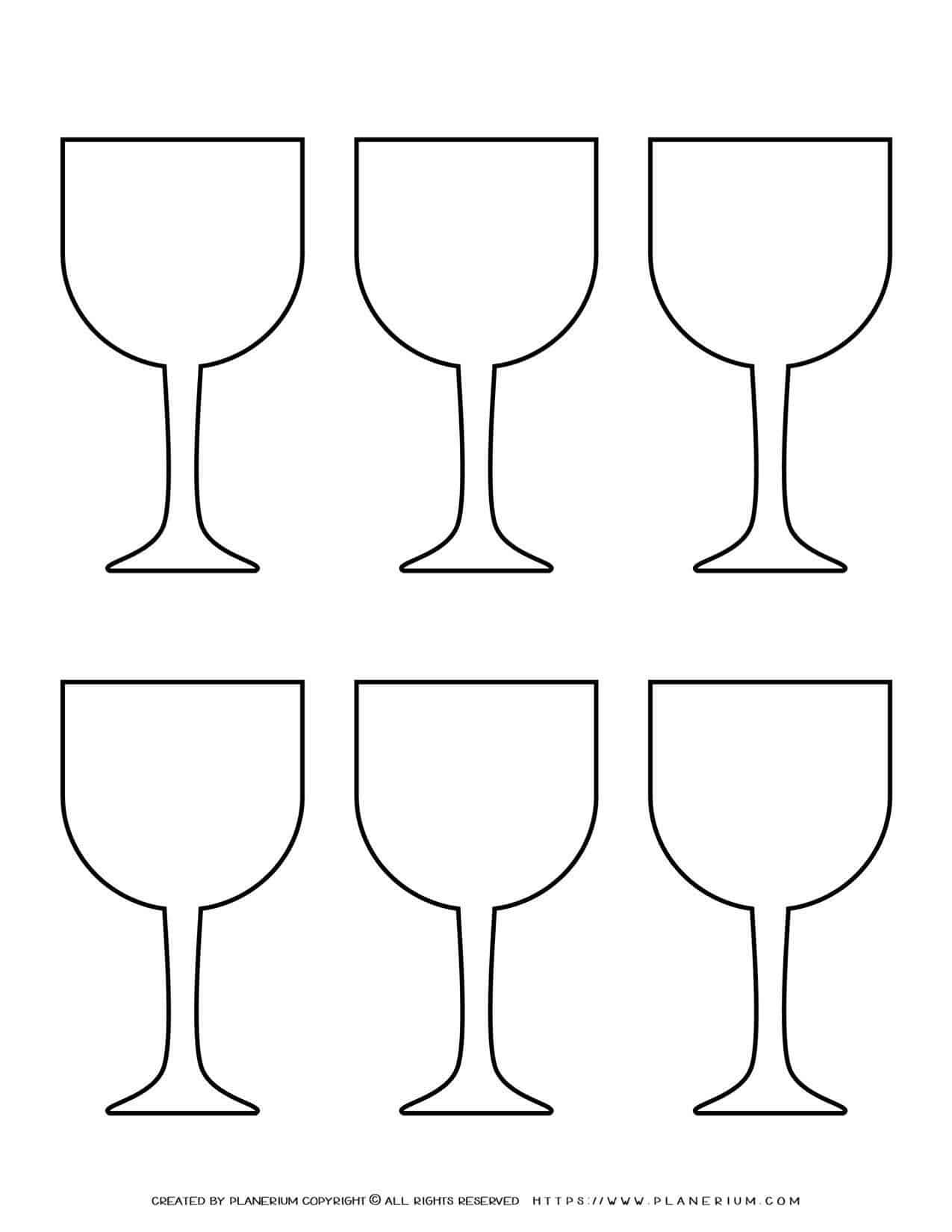 Templates - Six Wine Glasses   Planerium