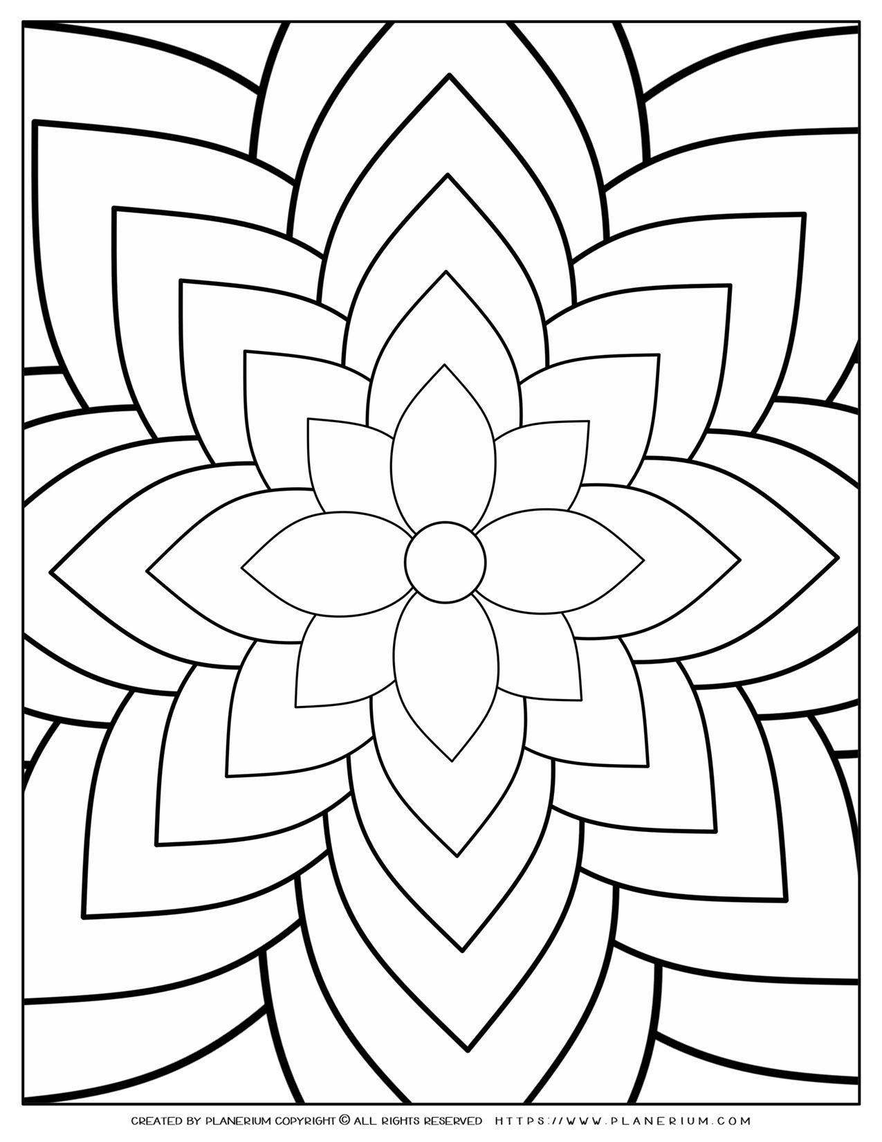 Adult Coloring Page - Flower Riddles | Planerium