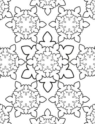 Adult Coloring Page - Snowflakes   Planerium