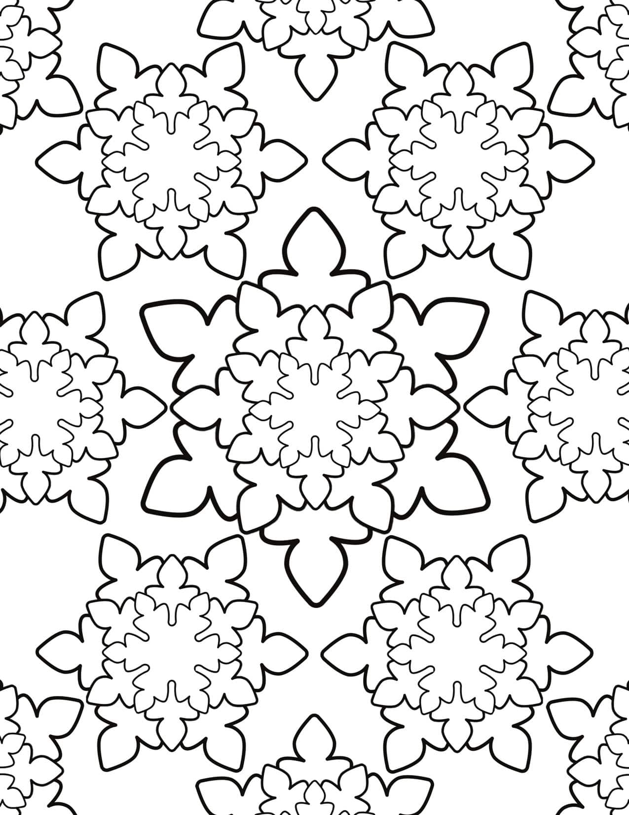 Adult Coloring Page - Snowflakes | Planerium