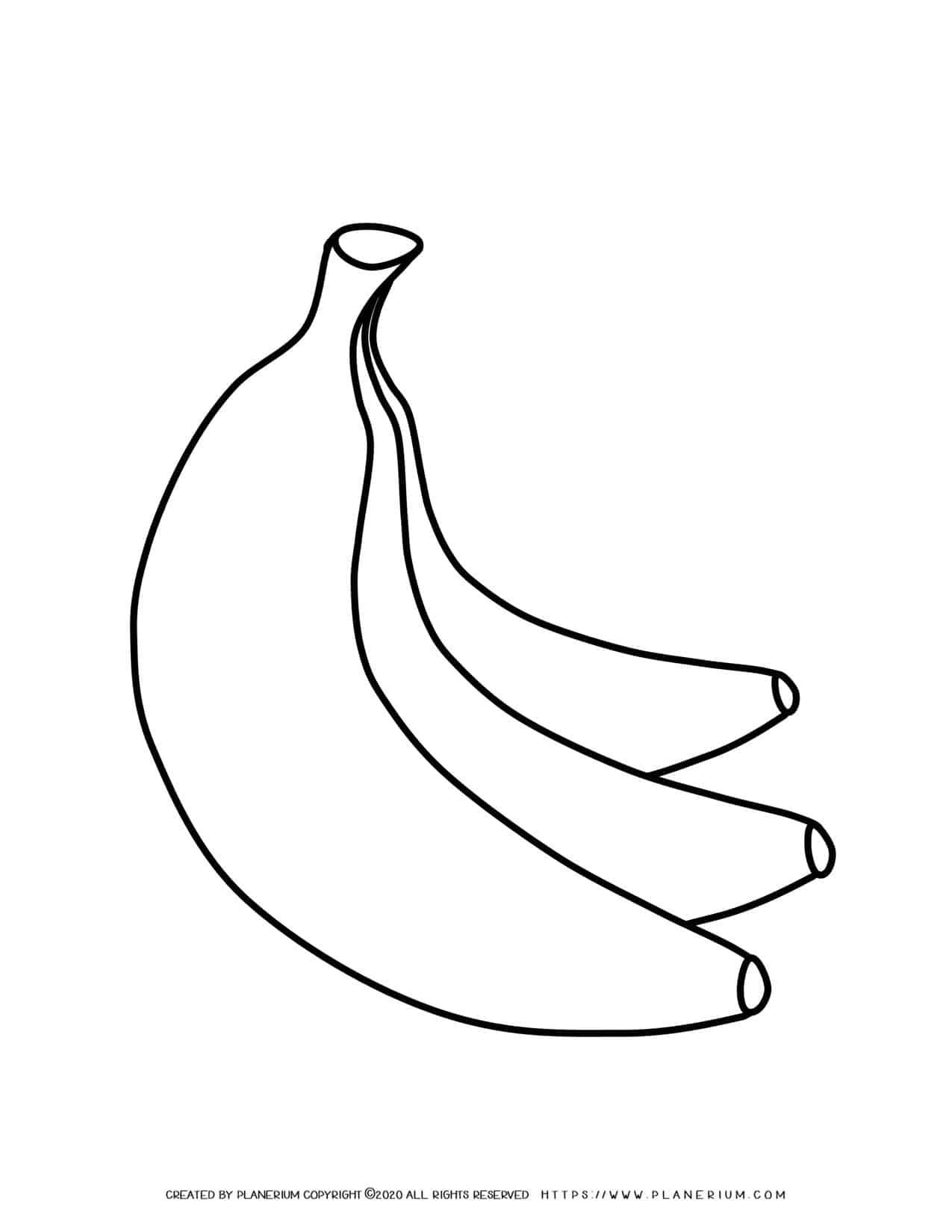 Bananas - Coloring page | Planerium
