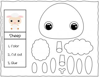 Cut and Glue Worksheets - Sheep | Planerium