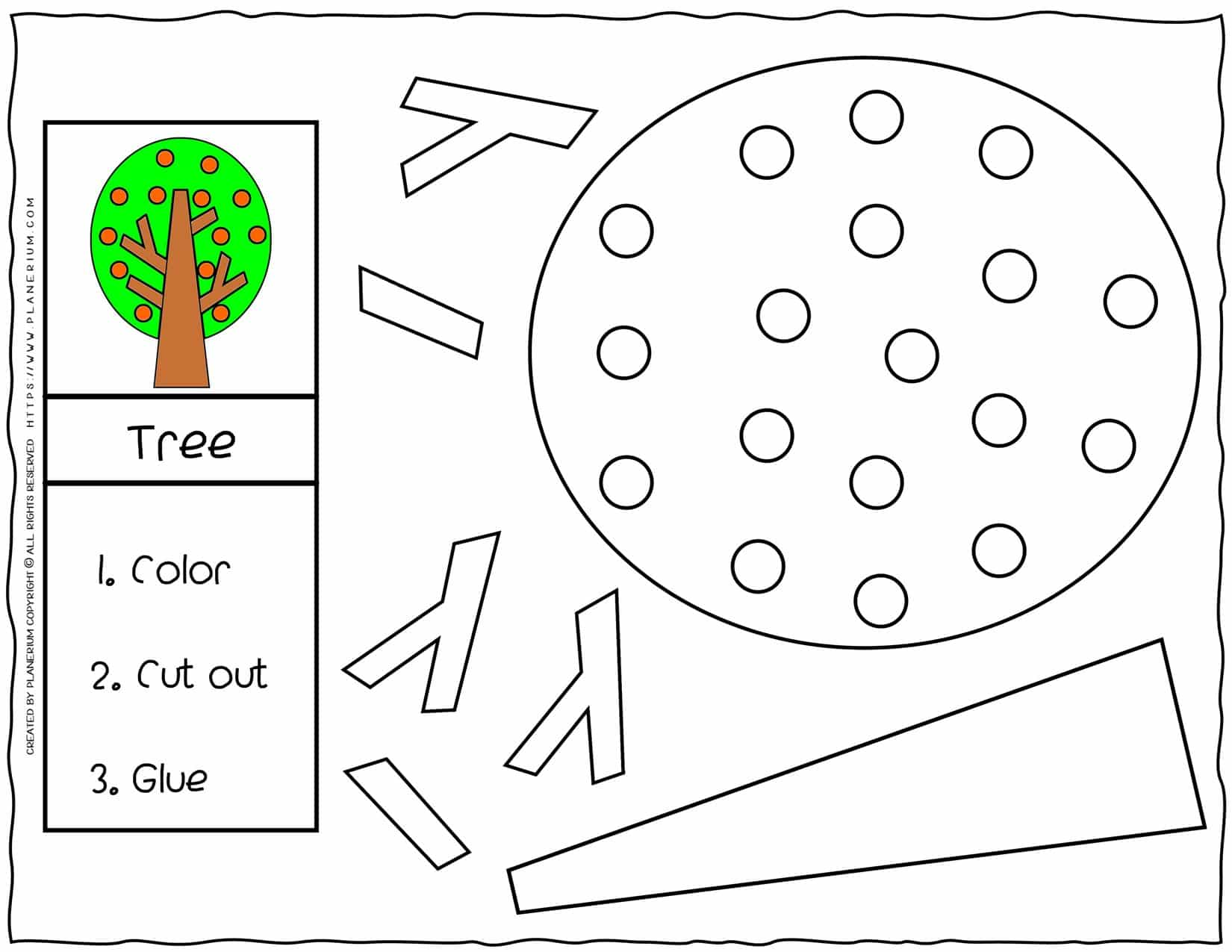 Cut and Glue Worksheets - Tree   Planerium