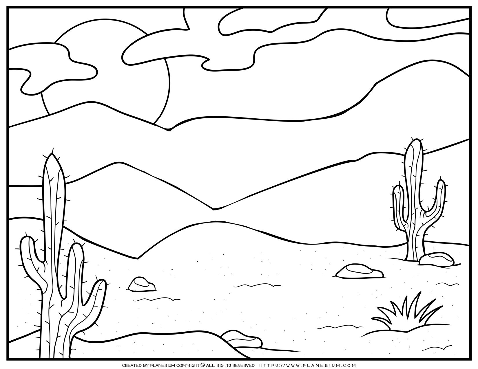 Desert Coloring Page | Planerium