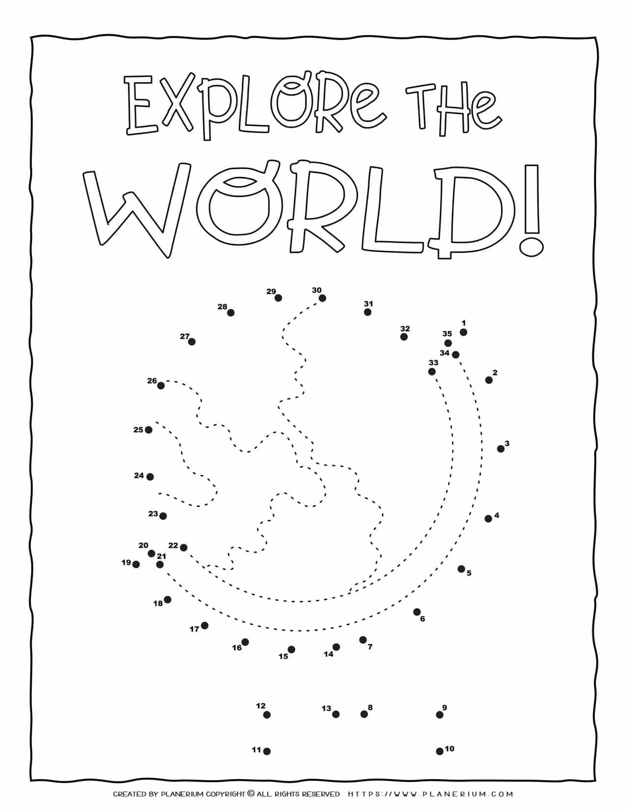 Explore The World - Connect The Dots | Planerium