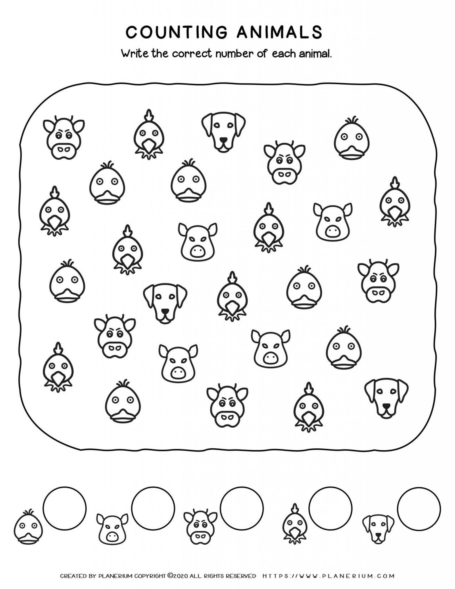 Farm Animals - Counting Animal Faces   Planerium