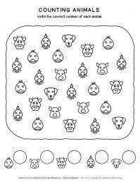 Farm Animals - Counting Animal Faces | Planerium