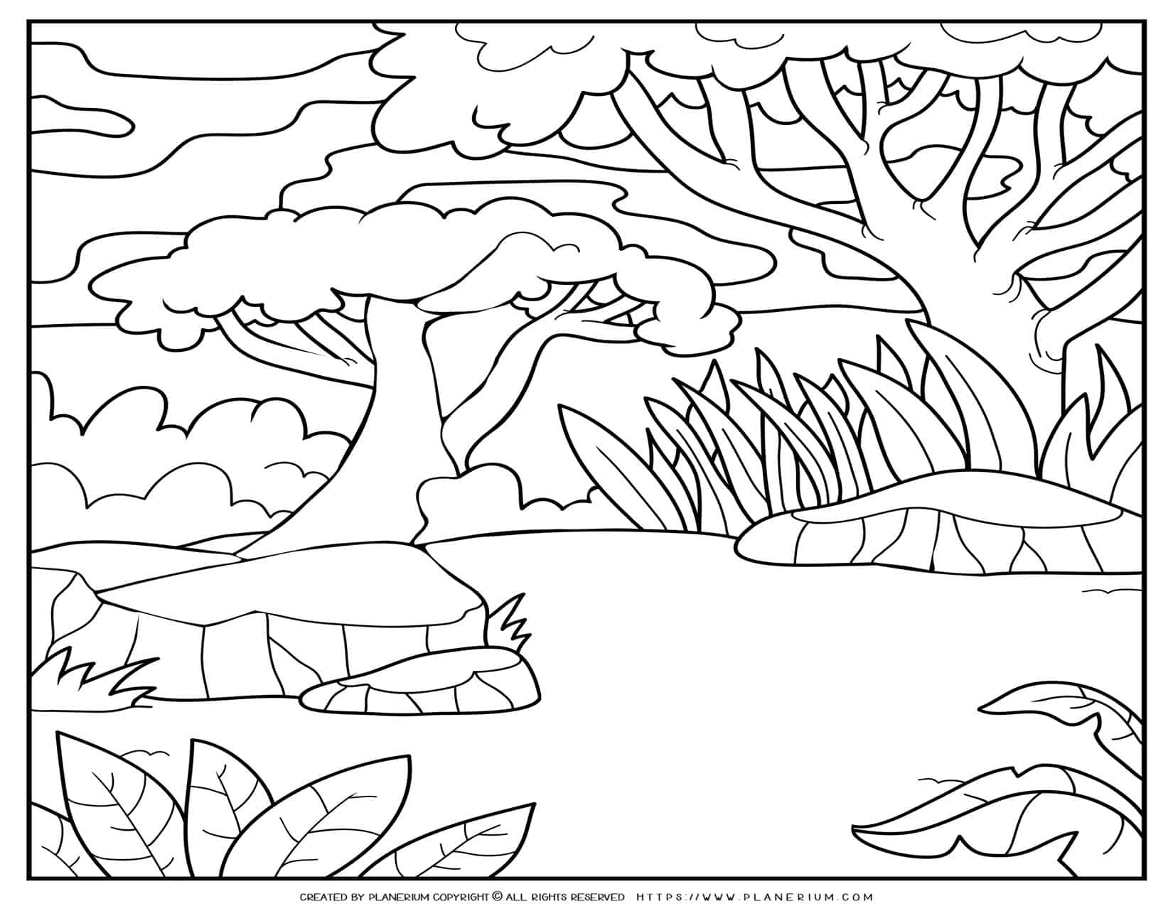 Forest Coloring Page | Planerium