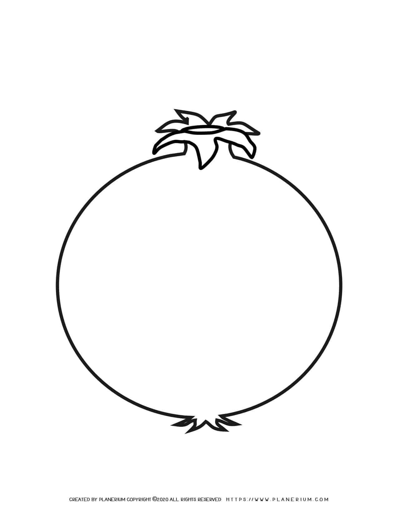 Pomegranate - Coloring page | Planerium