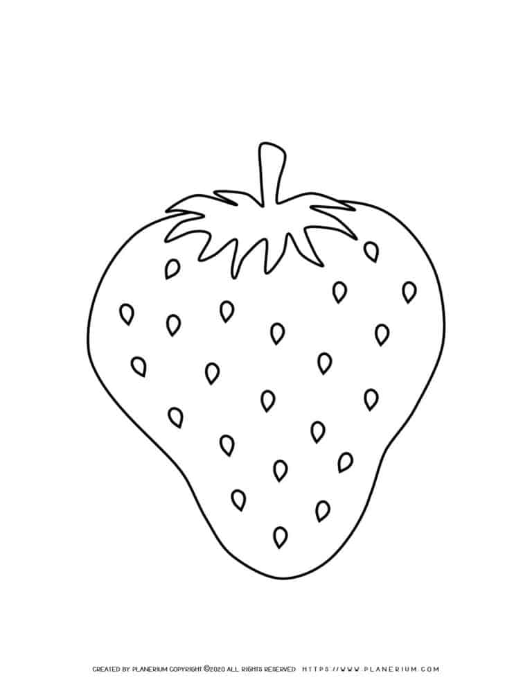 Strawberry - Coloring page | Planerium