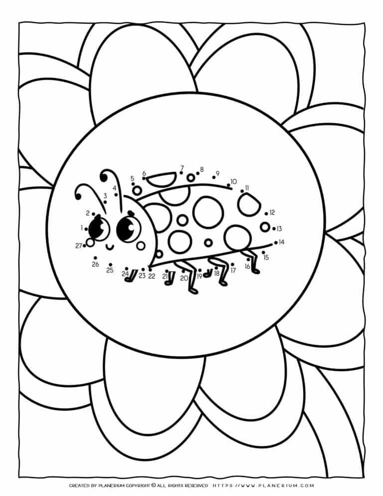 Ladybug Connect The Dots | Planerium