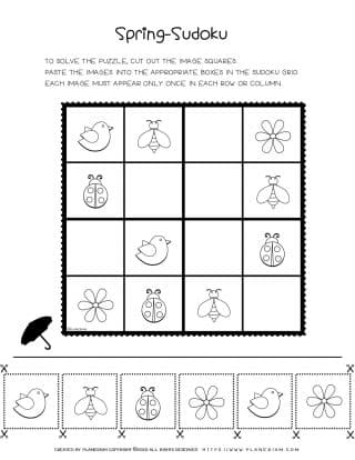 Printable Sudoku Puzzle For Spring | Planerium