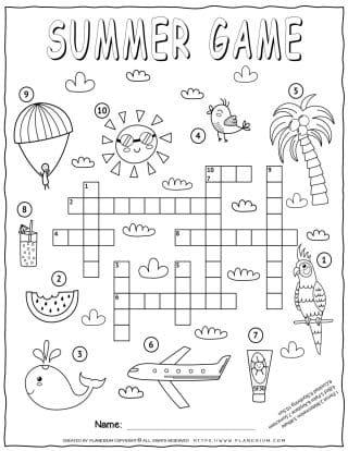 Summer Crossword | Planerium