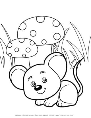 Animals Coloring Page - Mouse | Planerium