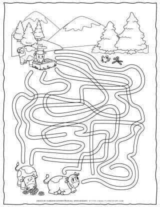 Animals Game - Cows Maze | Planerium
