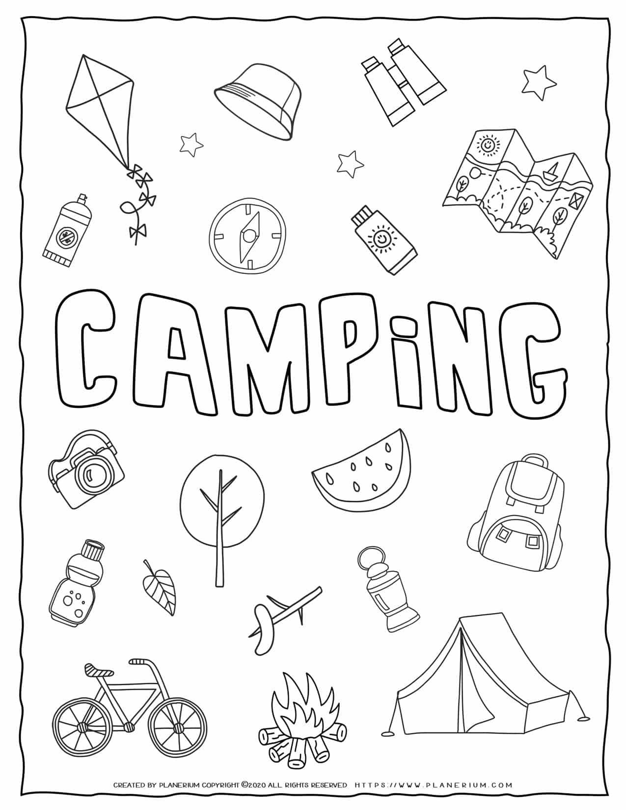 Camping Worksheet - Word Scramble | Planerium