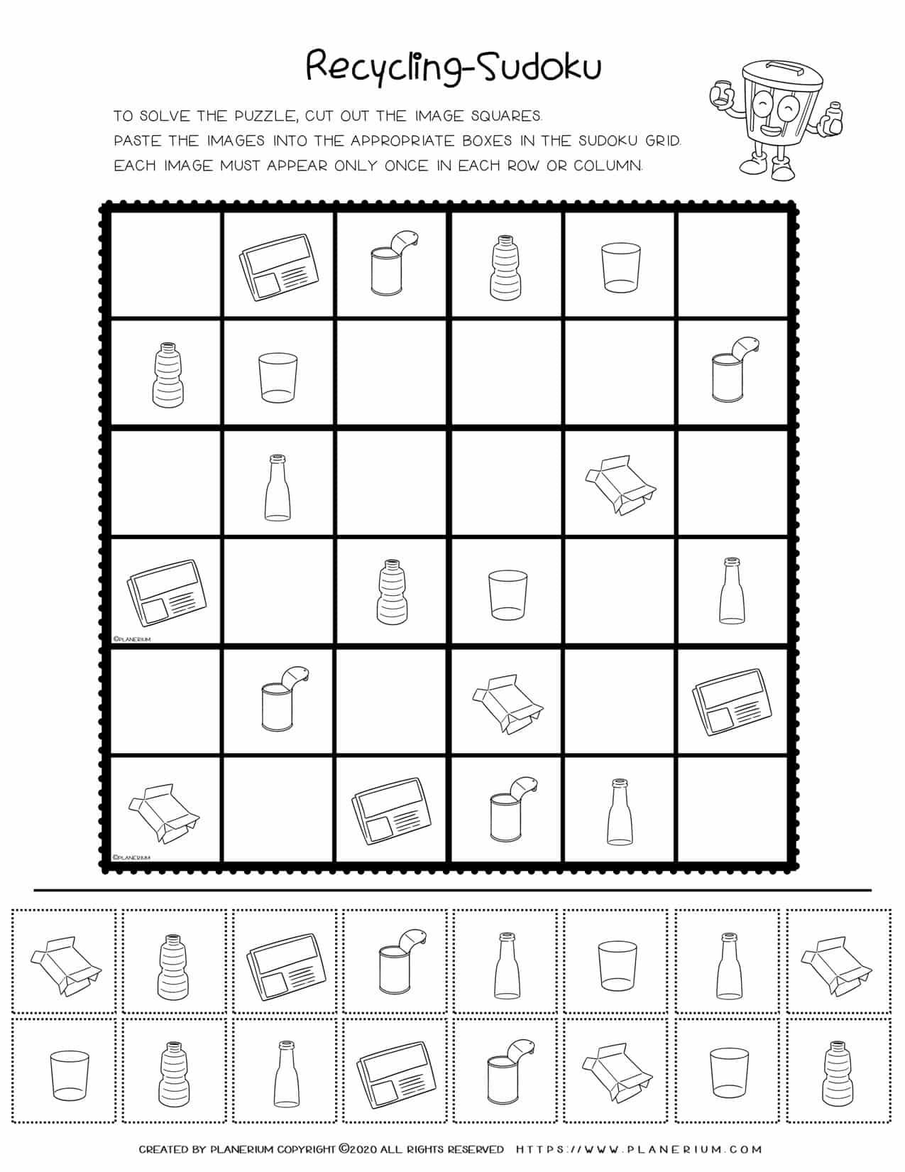 Earth Day Sudoku Puzzle - Advanced | Planerium